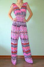 Jersey V Neck Regular Size Jumpsuits & Playsuits for Women