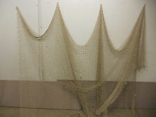 10'X20' Tan Nautical Net Decor-Deck-Yard-Maritime, Recycled Fishing Net #misc