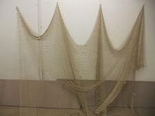 10'X10' TAN NAUTICAL NET DECOR-DECK-YARD-MARITIME, RECYCLED FISHING NET #4641-43