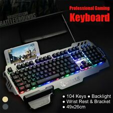 104 Keys Wired Backlight Gaming Keyboard Home Multimedia Laptop Computer Clavier