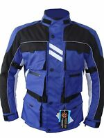 YAMAHA BLUE COLOR MOTORCYCLE WATERPROOF TEXTILE BIKERS CE ARMOURS SUMMER JACKETS
