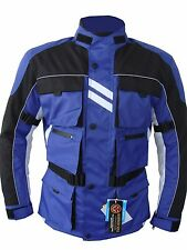 YAMAHA Color Azul Impermeable De Motocicleta Textil Motero CE Blindado Verano