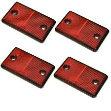 Red Rectangular Rear Reflector Pack of 4 Trailer Fence Gate Post TR074