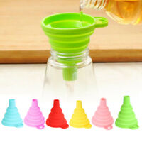 6 Colors Mini Silicone Foldable Collapsible Funnel Hopper Kitchen Cooking Tools