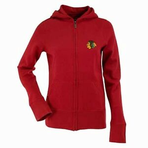 NWT Chicago Blackhawks Full-Zip Hooded Sweatshirt by Antigua Red Womens XL