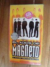 MAGNETO cinta VHS tape EL ULTIMO CONCIERTO 1996 brand new 90'S POP MEXICO nuevo