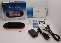 Used PS Vita Console Pink Black PCH-2000 Wi-Fi w/ Charger Box 16GB Memory Japan