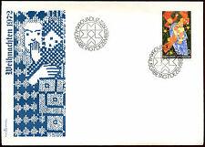 Liechtenstein 1972 NATALE FDC primo giorno Coperchio #C 22105