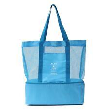 Cabas sac à pique-nique ou à provisions multifonctions pliable et isotherme BLEU