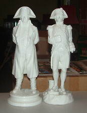Michael Sutty NAPOLEON & NELSON WHITE BONE CHINA FIGURINES / c.1980s / Excellent