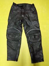 Motorradhose Lederhose von POTOHAR schwarz Gr.42 Pantalon moto Nr.19 unisex