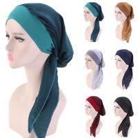 Women Cancer Hat Chemo Pirate Cap Muslim Hair Loss Head Scarf Turban Head Wrap