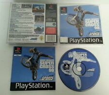 PLAYSTATION 1 - PS1 Jeremy McGrath Super Cross 98 Game Complete Acclaim 1998 PAL
