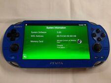 X4925 Sony PS Vita 1000 console Wi-Fi model Sapphire Blue PCH-1000 ZA04 English