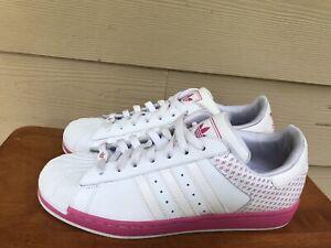 Adidas Originals Art # 381189 Women's Women's White Pink Sneakers Shoes Sz 10