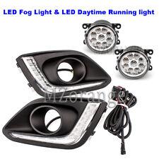 Pair LED Daytime Running Light DRL Fog Lamps Kit For Suzuki Swift 2014 2015 2016