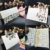 50pcs Laser Cut Wedding Birthday Party Table Name Place Cards Favor Decor Dyxl