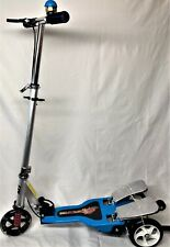 Dual Pedal 3-Wheel Scooter for  Boys & Girls 5+ W/ LED Light Up Front Wheel BLUE