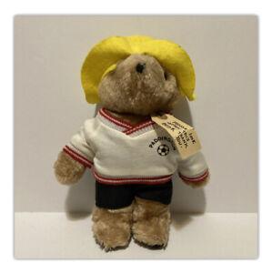 "Vintage Paddington Bear 10"" Darkest Peru EdenToys Plush Soccer Football"