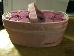Conair 10 Hot Roller travel on the go with 10 clips and case pink