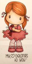 """Stempel """"Tiny Heart"""" C.C. Designs, kleines Mädchen, Clear Stamp"""