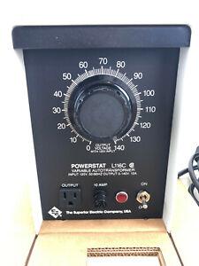 Superior Electric Powerstat L116C Variable Autotransformer 120V to 0–140V 10 amp