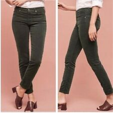 AG Adriano Goldschmied 28R The Stevie Ankle Slim Leg Olive Green Corduroy Pants