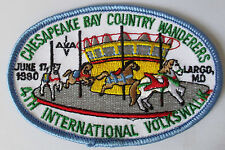 CHESAPEAKE BAY COUNTRY WANDERERS INT VOLKSMARCH PATCH LARGO MD 1980 WALKING CLUB