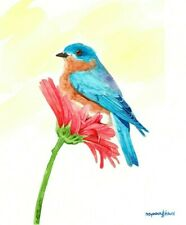 Bluebird, 5 x 7 inches Art print of an original watercolor painting by Anna Lee
