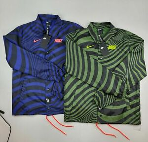 NWT Nike NSW Air Max Coaches Windbreaker Jacket Men's Green/Blue CW4751 Size M,L