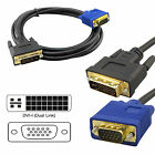 DVI-I to VGA Male 15 Pin TV PC Cable HD Video Monitor Converter Adapter Lead