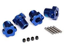 Traxxas TRX8654 Radmitnehmer splined 17mm blau eloxiert