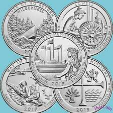 2019 COMPLETE 5D NATIONAL PARKS QUARTERS UNCIRCULATED (5 QUARTERS TOTAL)