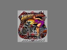 autocollant  route 66 sexy pinup motorcycle vintage us auto,moto120 mm ,garage