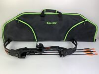 """Bear Archery Brave Youth Compound Bow 26"""" Right Handed w/ Carrying Case & Arrows"""