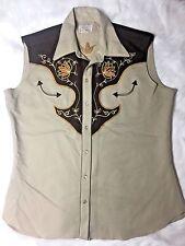 Vtg 70s H BAR C Cheyenne Long Tail Ranchwear Embroidered Western Shirt 17 1/2 XL