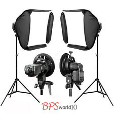 2x 60cm Portable Studio Soft Flash Speedlite Softbox for Speedlight + 2m Stand