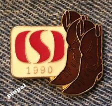 Calgary Stampede Pin~Vintage 1990~Sponsor Safeway~Cowboy Boots~NOS~New Old Stock