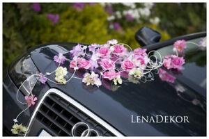 white wedding prom car decoration ribbon bows isa