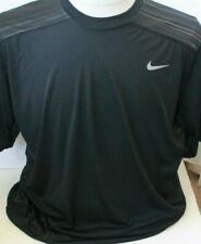 Nike Mens Dri-Fit Fitted S/S Vented Back Shirt Sz Xl Black/Grey Excellent Con