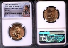 2007-D  FROM  ANNUAL DOLLAR SET Sacagawea  NGC MS68 - Gem  LOW POP