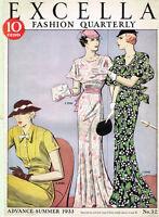 1930s Excella Summer 1933 Quarterly Pattern Catalog 34 pg Ebook Copy on CD