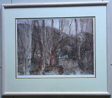 Marian Purvis(1932~)Australian artist~original etching~Bush Experience~