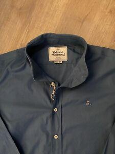 100% Genuine XXL Vivienne Westwood Blue Shirt size 54