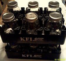 10 Black plastic 2 liter soda pop bottle carrier canning jar crate stackable