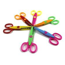 6x Kids Colorful Cute Scissors Photos Card Paper Cutting Lace Edge Shape Cut Set