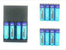 12PCS KENTLI 1.5v 3000mWh rechargeable Lithium AA PH5 battery R06 LR06+Charger