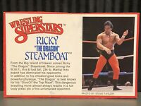 WWE Ricky Steamboat WWF LJN Bio Card Wrestling Used WCW Classic NWA The Dragon