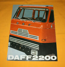 DAF F 2200 1971 Prospekt Brochure Depliant Prospetto Catalog Prospecto Folder