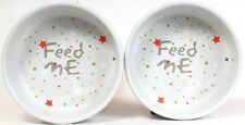1 Set Petface Velcro Brand Feed Me Colorful Stars Food & Water Bowl